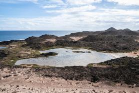 Zátoka na ostrůvku Lobos, Kanárské ostrovy